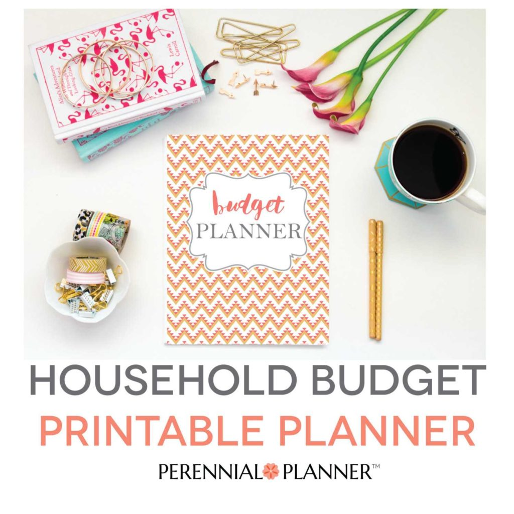 Financial Planning Spreadsheet and Bud Planner Printable Aztec Design Monthly Household