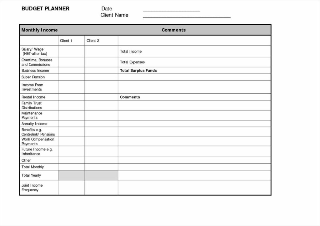 Financial Planning Spreadsheet Free and Financial Planning Templates Contegri