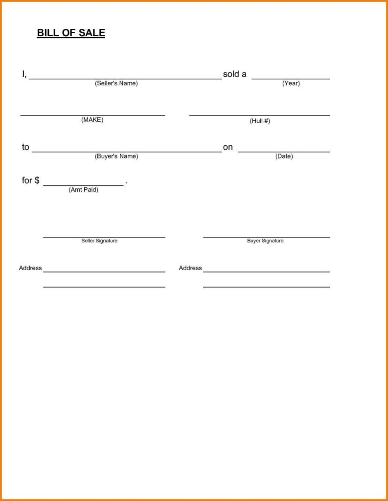 Formwork Design Spreadsheet and Trailer Bill Of Sale and Bill Template for Personal Use Naerbet