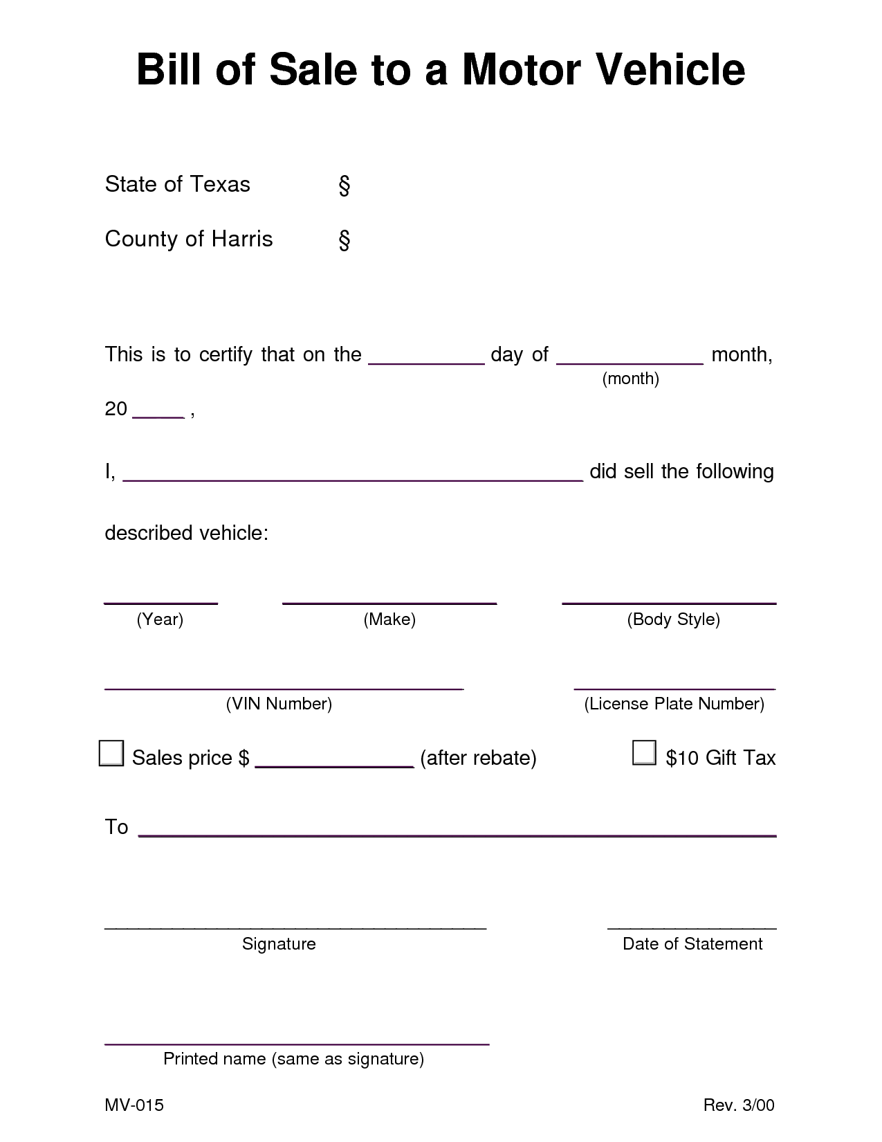 Free Bill Of Sale Template for Car and Auto Bill Of Sale Template Tristarhomecareinc