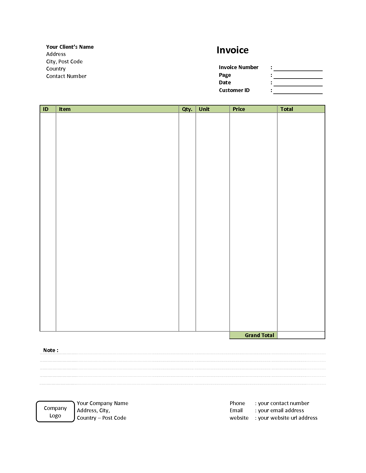 Free Billing Statement Template and Simple Invoice Template Free to Do List