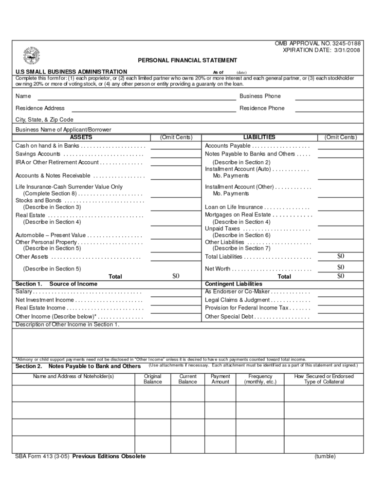 Free Business Financial Statement Template and What Goes On An In E Statement Sample In E Statement for Small