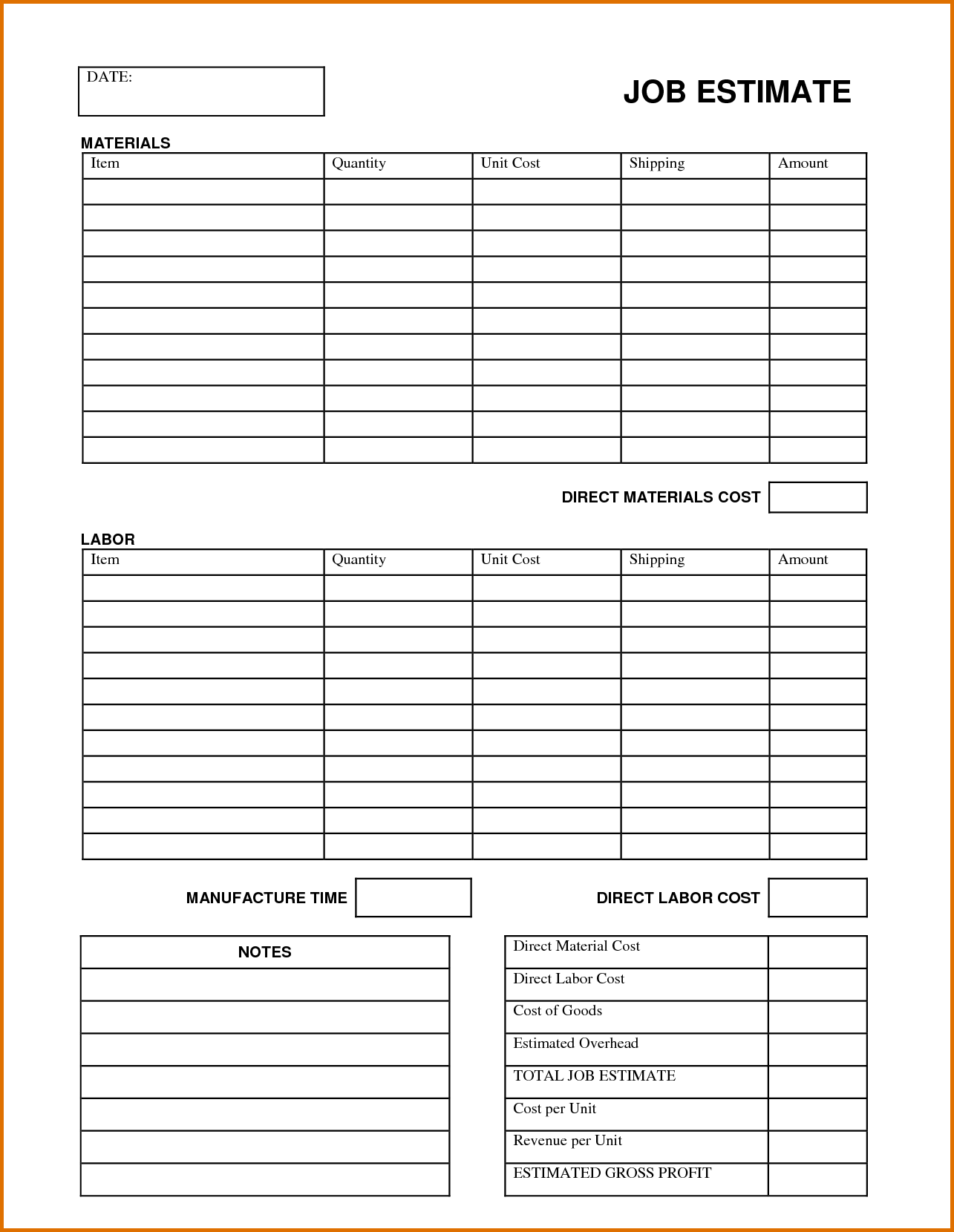 Data Mapping Template Excel