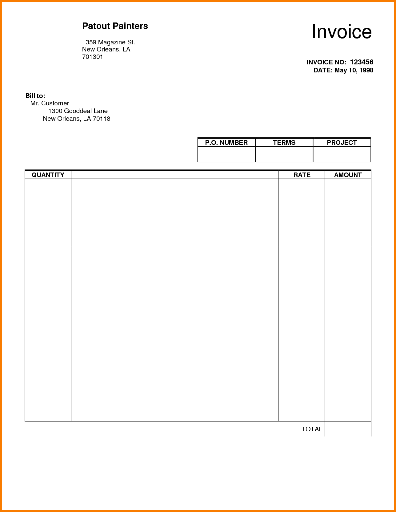 Free Contractor Invoice Template Word and Employee Invoice Template Hourly Invoice Template Hourly Rate