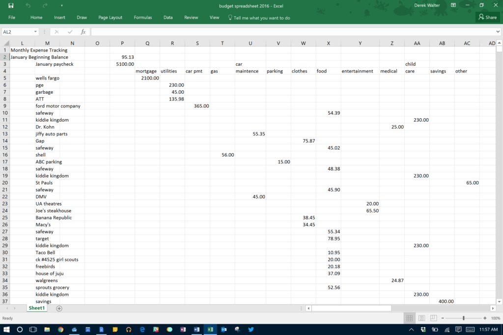 Free Daily Expense Tracker Excel Template and Microsoft Excel the Spreadsheet Takes Minutes to Maintain
