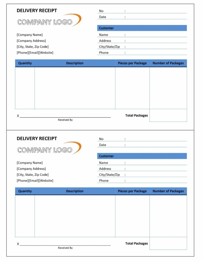 Free Download Of Invoice Template and Delivery Receipt Freewordtemplates