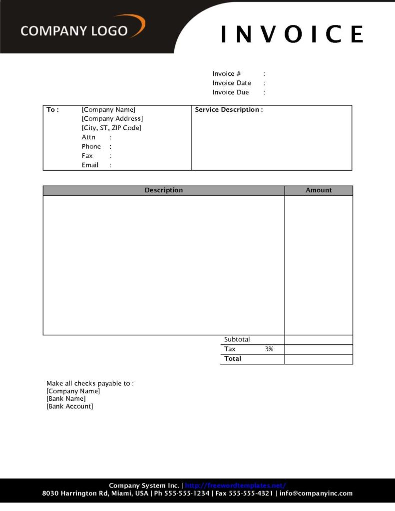 Free Downloadable Invoice Template and Free Able Invoices Invoice Template Ideas