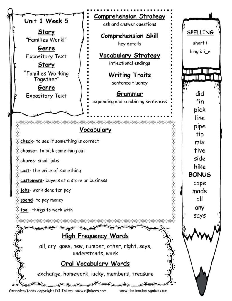 Free Printable Second Grade Reading Comprehension Worksheets and Mcgraw Hill Wonders Second Grade Resources and Printouts