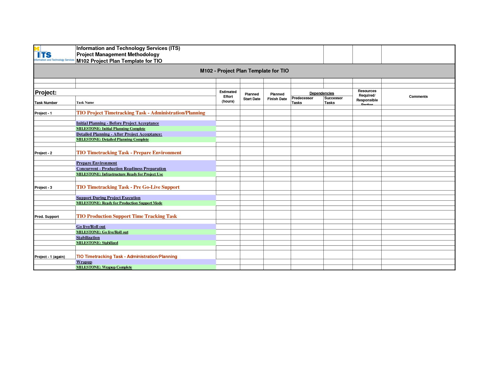 Free Project Management Templates Excel 2007 and Project Schedule Template Masir