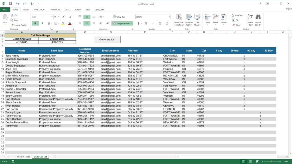 Free Sales Tracking Spreadsheet and Excel Demo Lead Tracker Youtube