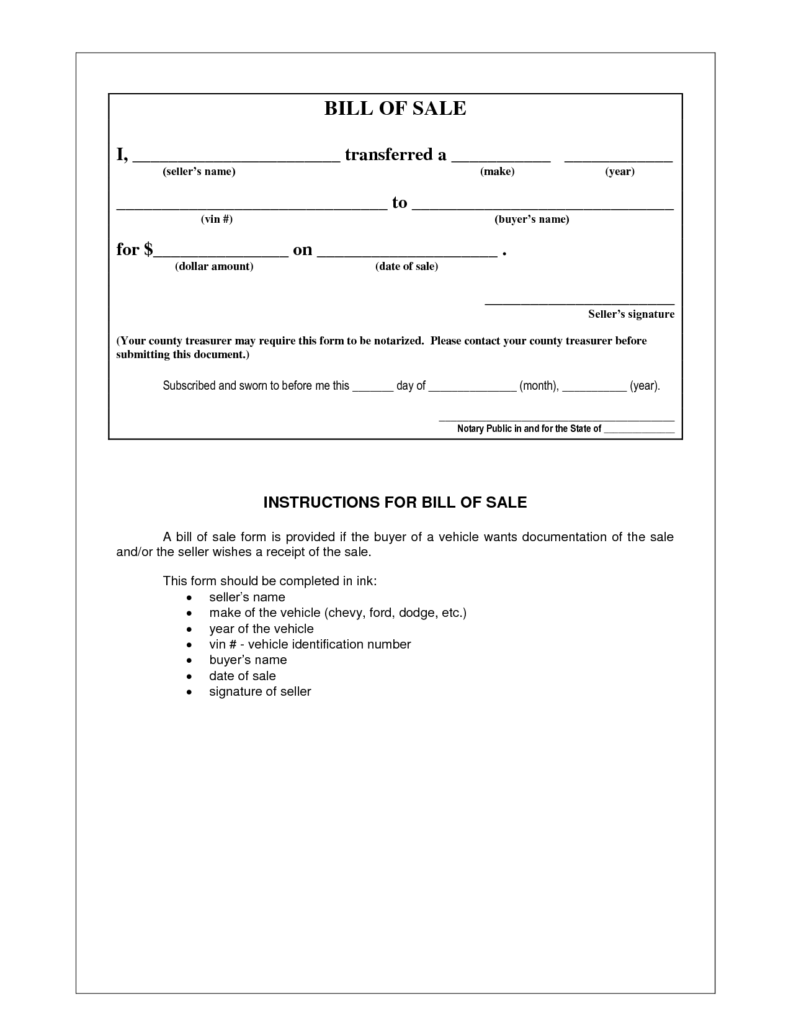 General Bill Of Sale Template and Picture 5 Of 17 Example Bill Of Sale form Photo Gallery