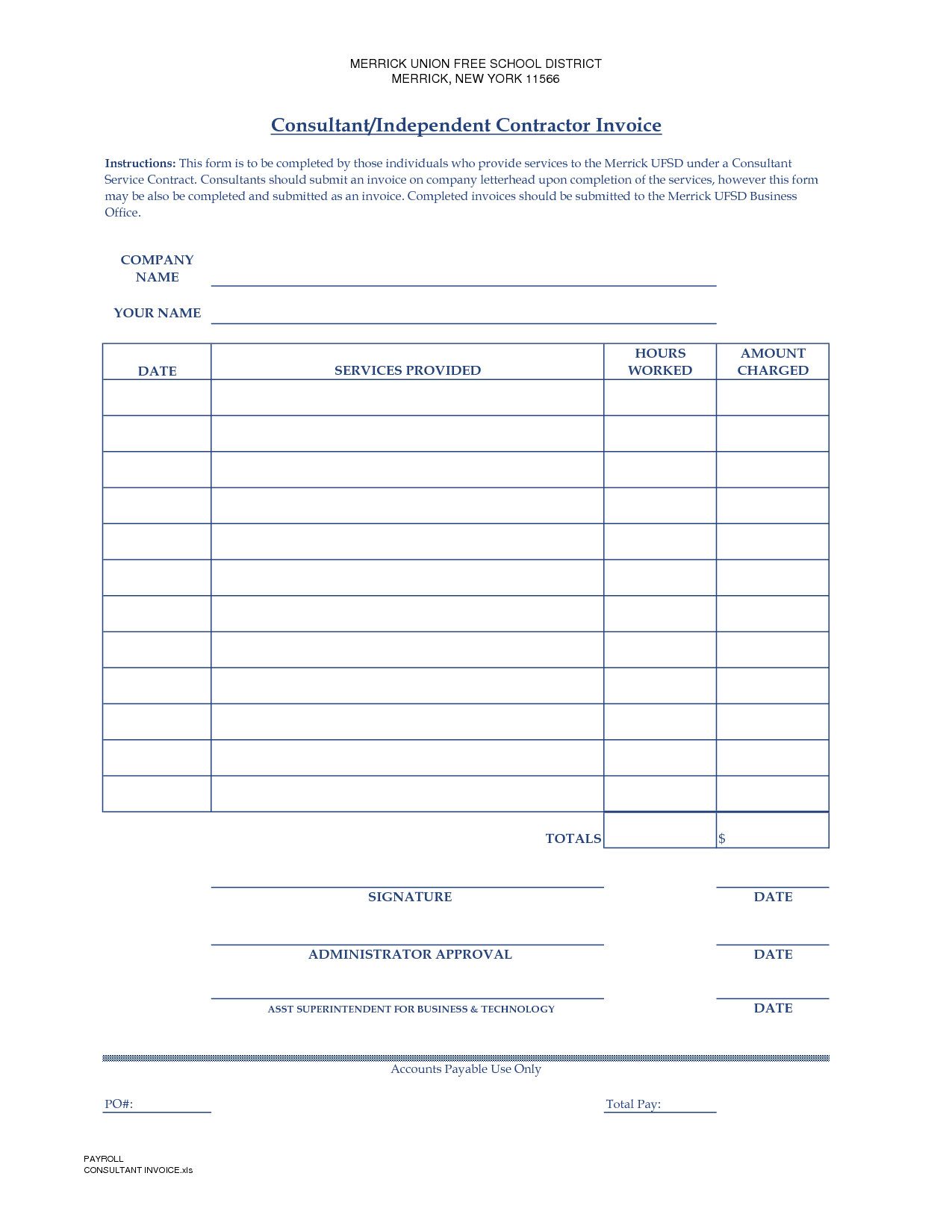 General Contractor Invoice Template and Contractor Invoice Template Free Invoice Example