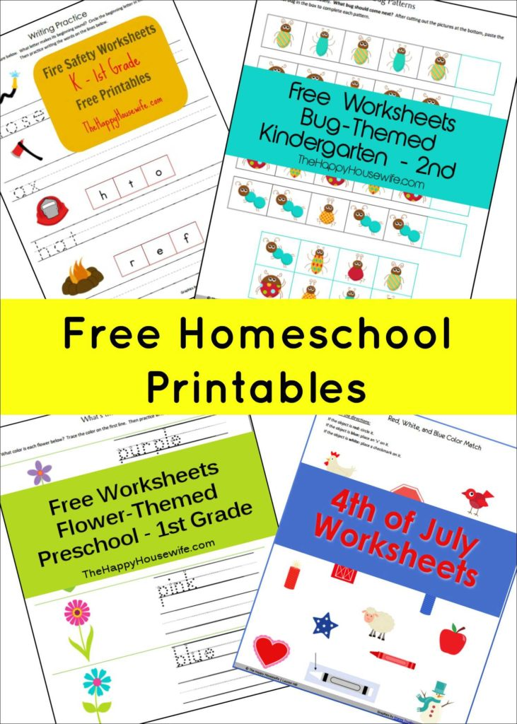 Homeschool Worksheets Preschool and Homeschool Free Printables the Happy Housewifeâ Home Schooling