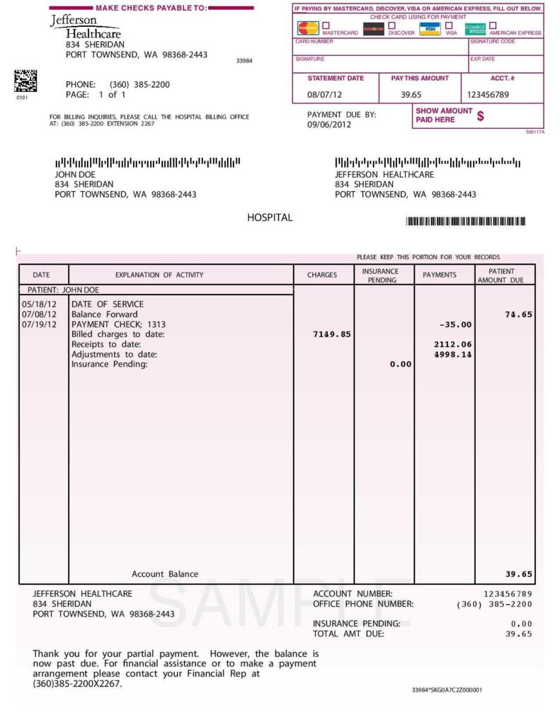 Hospital Invoice Sample and Hospital Invoice Template Excel Rabitah