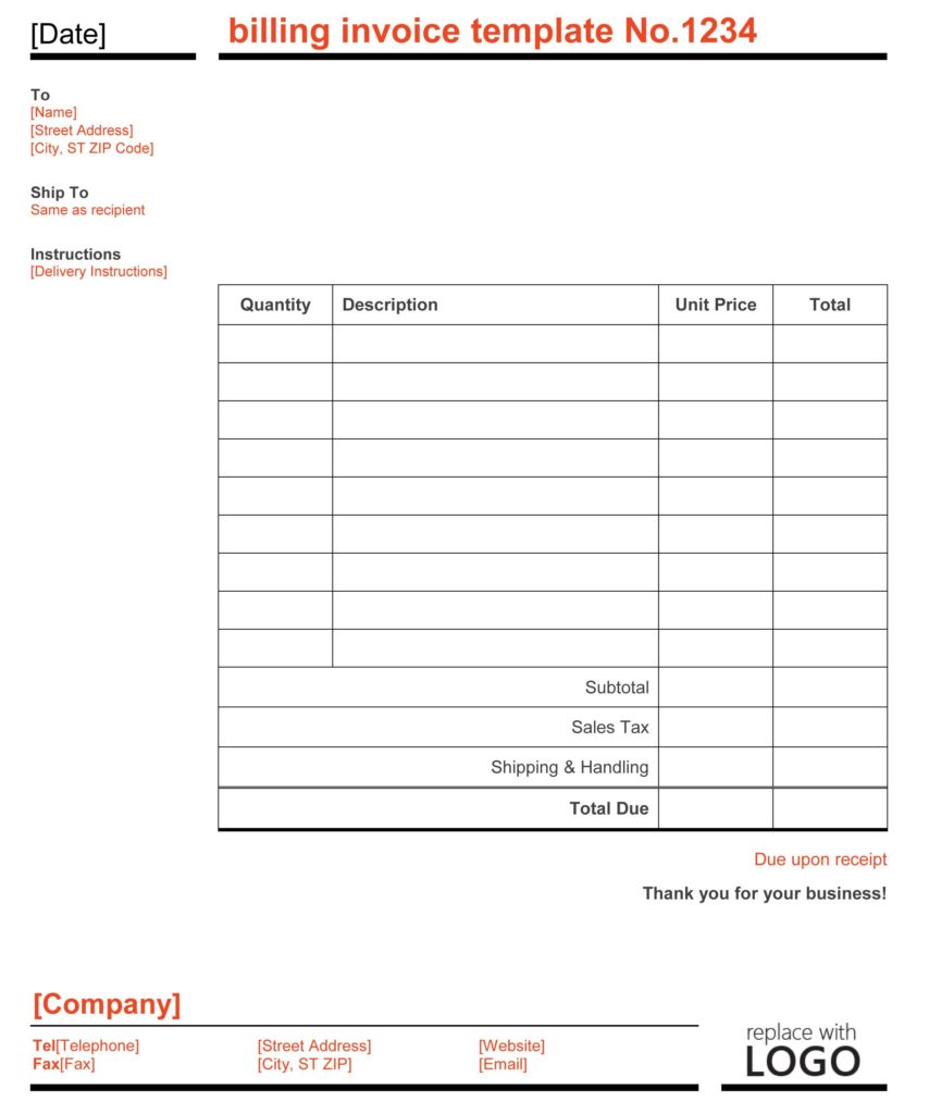 Hotel Bill Template and 28 Bill Template Billing Invoice Template for Excel Free