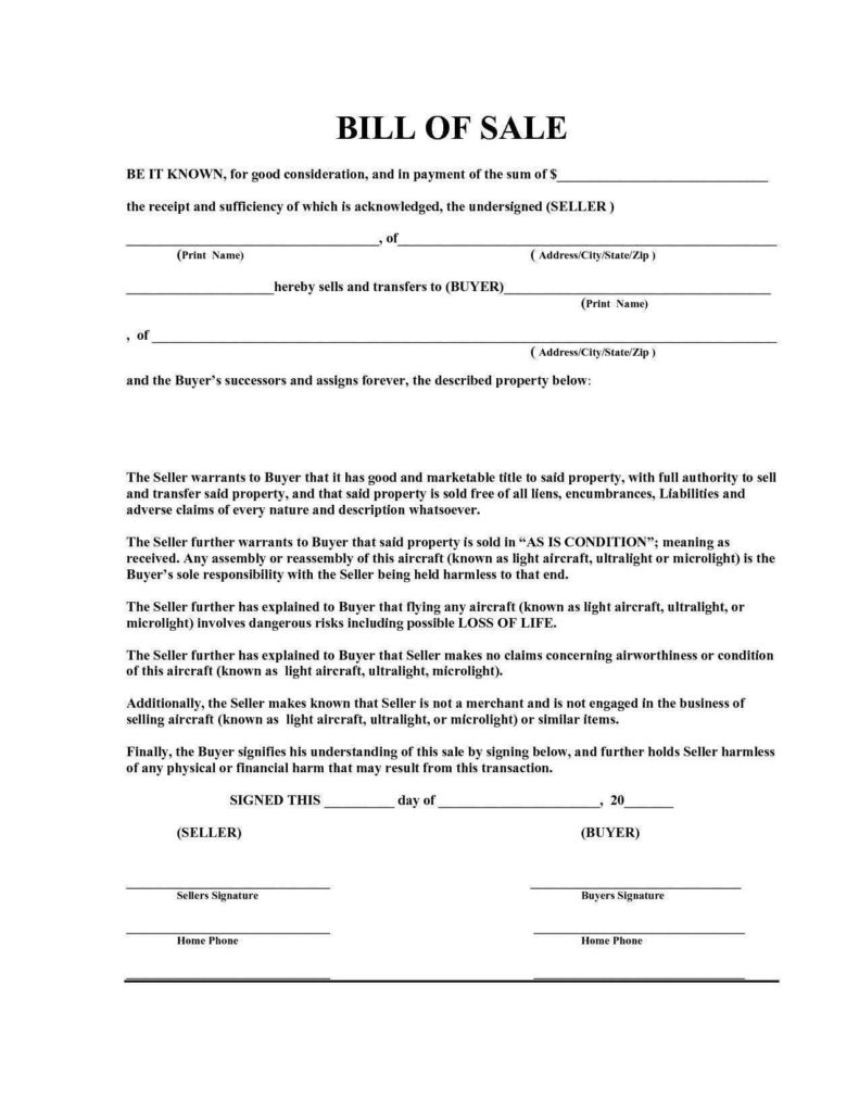 House Bill Of Sale Template and Motor Vehicle Bill Of Sale Template Alberta and Bill Of Sale