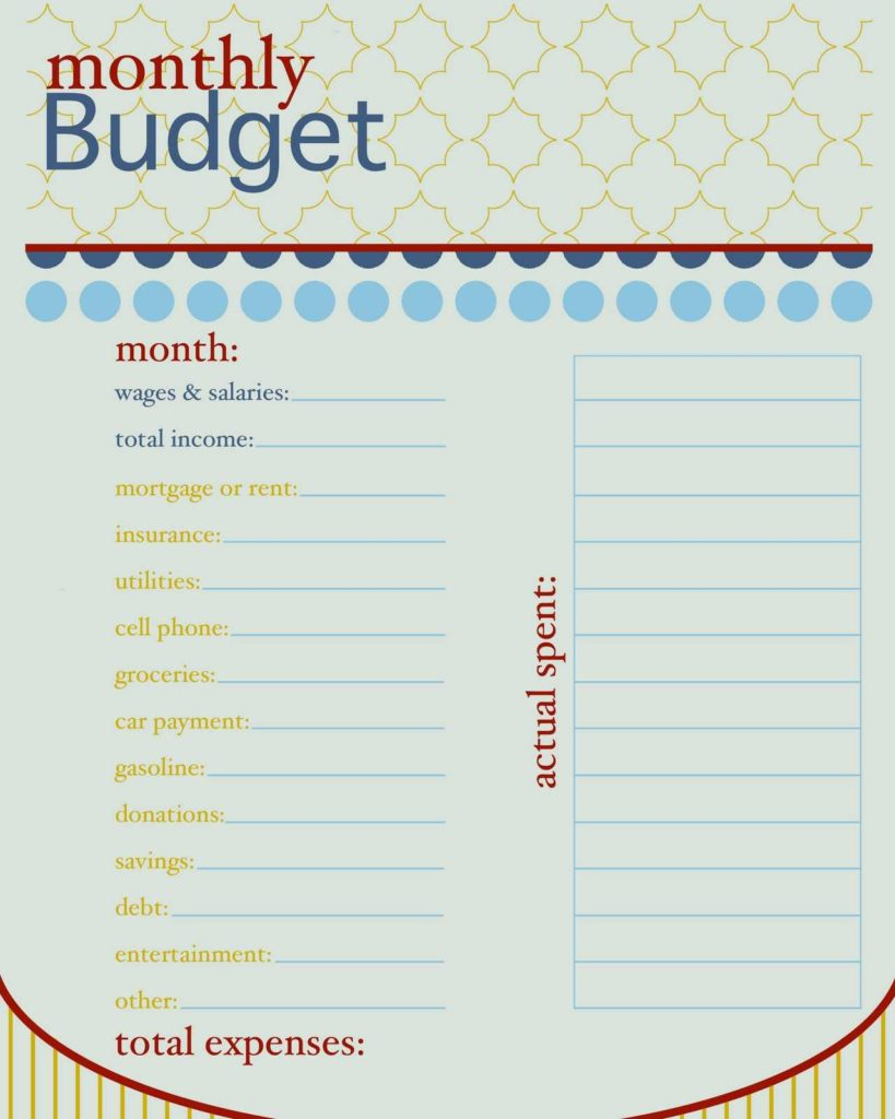 Household Budget Sheet Template and How to Live On A Bud Monthly Bud Free Printable and Bullet