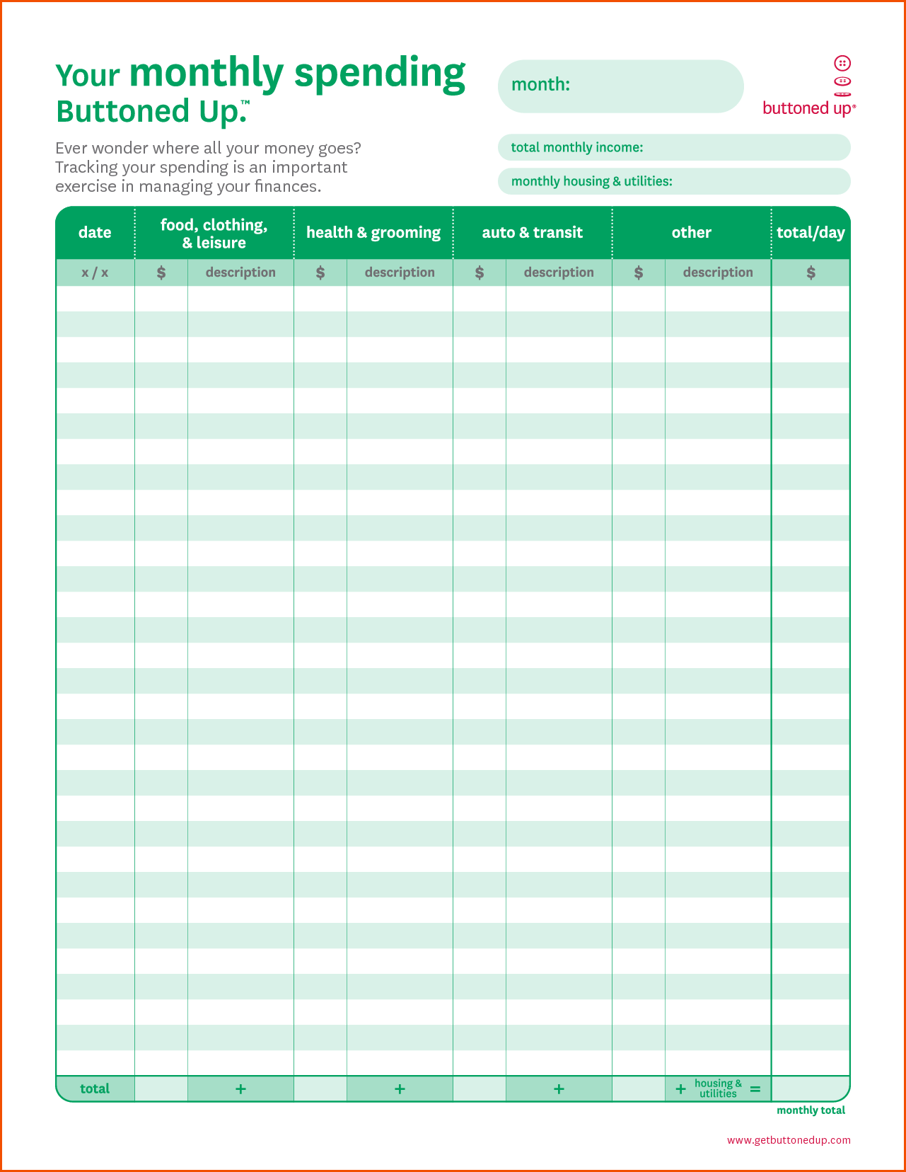 Household Budget Worksheets and Monthly Bud Worksheet Printablememo Templates Word Memo