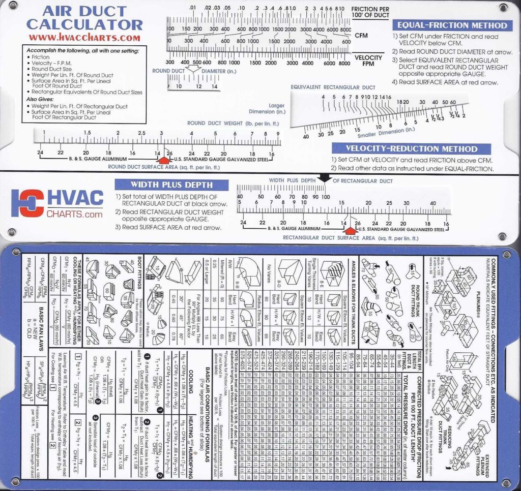 Hvac Residential Load Calculation Worksheet and Air Duct Sizing Calculator Hvaccharts Books