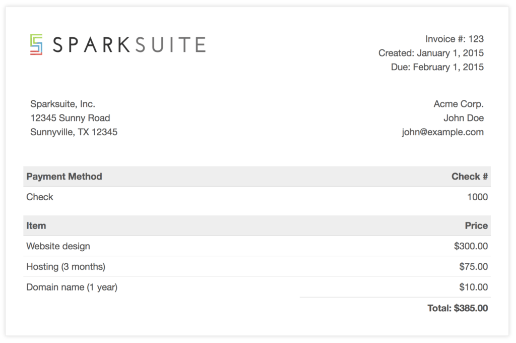 Image Of Invoice Template and Github Sparksuite Simple Invoice Template A Modern Clean