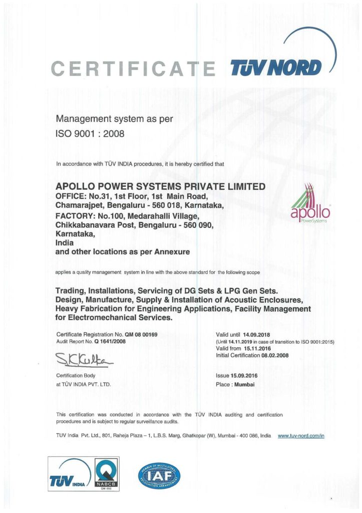 Internal Audit Report Template iso 9001 and iso Certification Apollo Power Systems