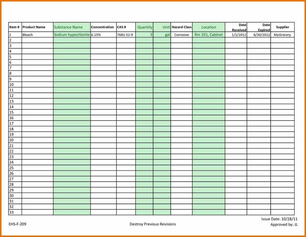 Inventory List Spreadsheet and Restaurant Inventory Spreadsheet Template Inventory Spreadsheet