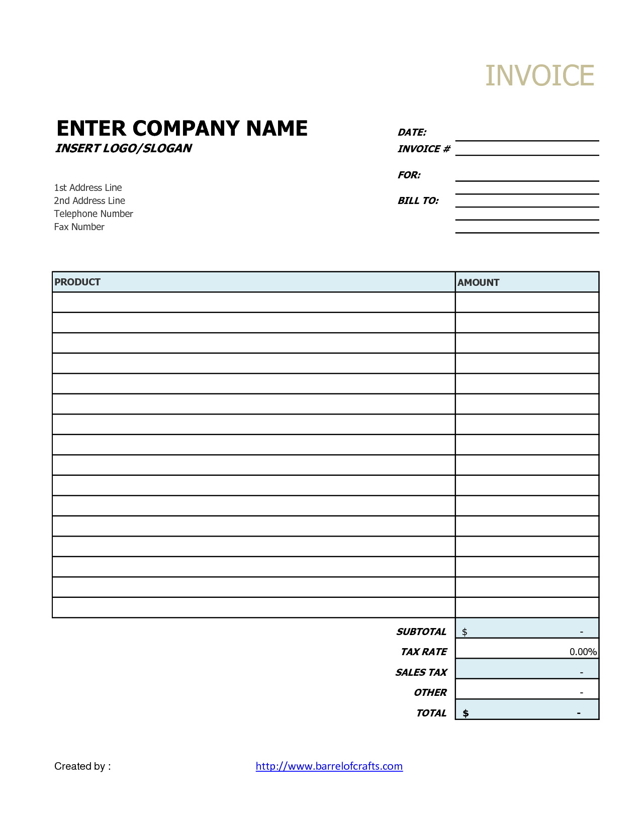 It Services Invoice Template and Generic Invoice Printable Invoice Template