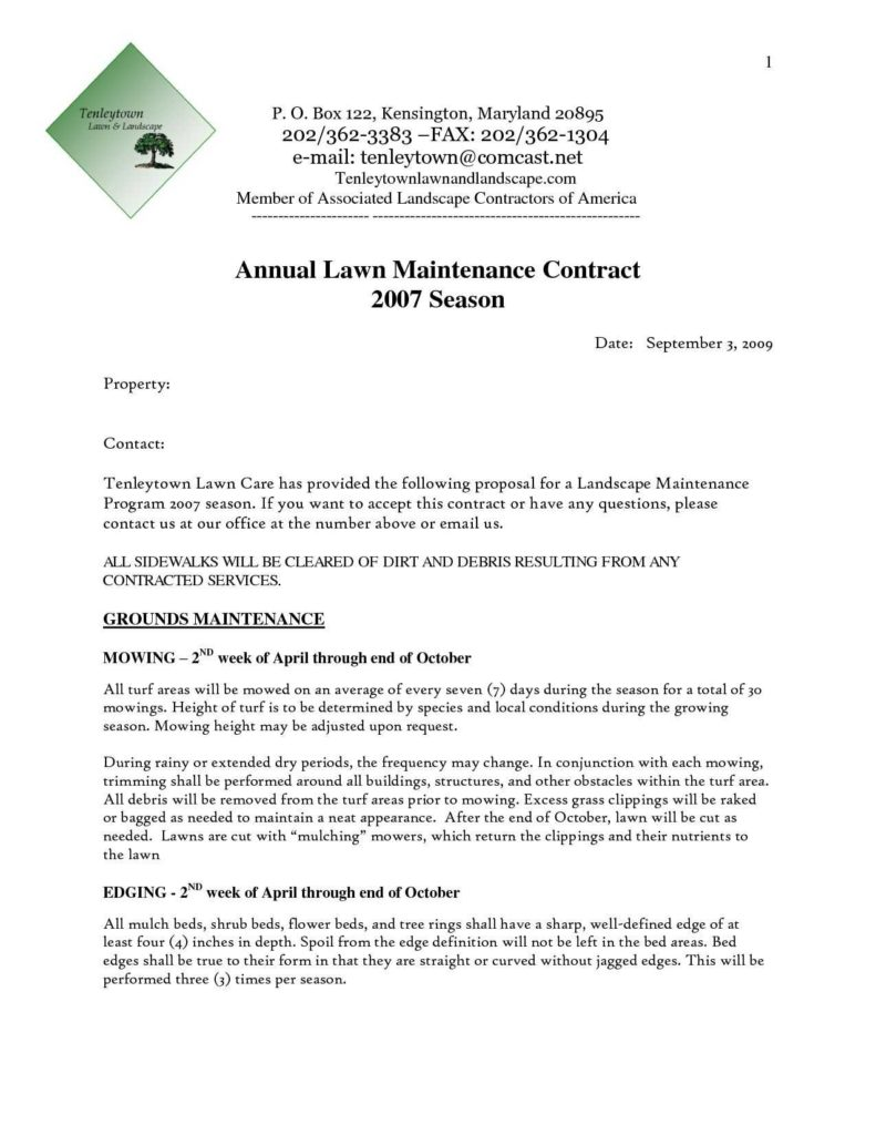 Landscaping Estimates Examples and Landscaping Proposal Template Corpedo