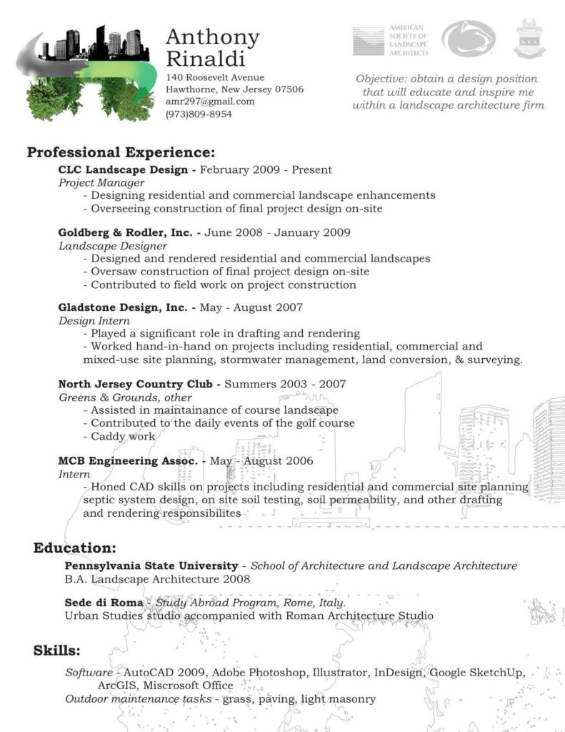Landscaping Invoice Sample and Foxy Sample Laborer Resume Template General Labor Construction