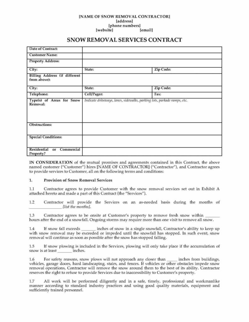 Lawn Maintenance Invoice Template and Lawn Maintenance Contract Template Youtuf