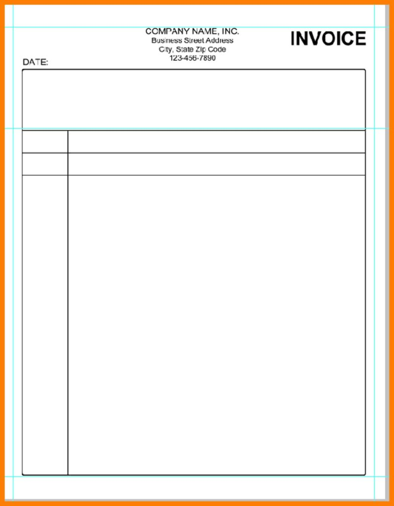 Lease Invoice Template and 11 Blank Invoice Template Word Lease Template