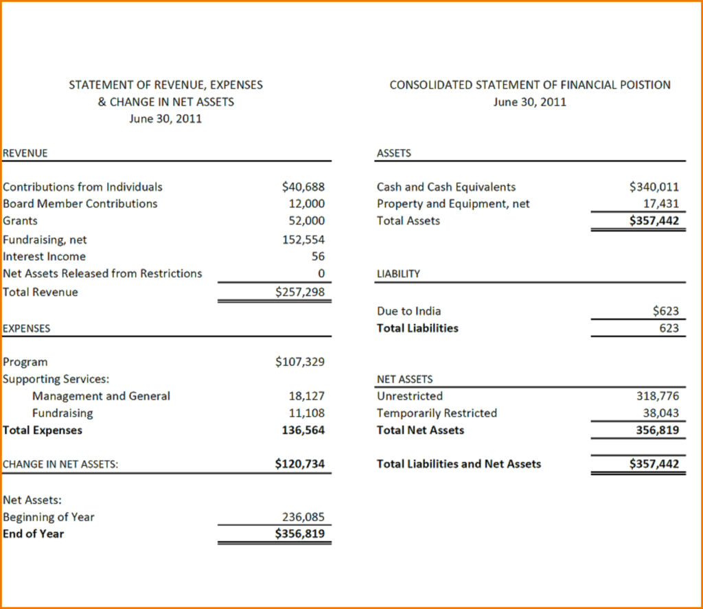 Llc Financial Statement Template and 12 Financial Report Example Financial Statement form