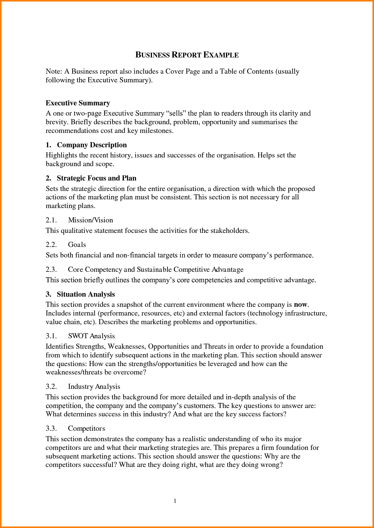 Marketing Report Examples and Report Writing Samples for A Business Examples Png Letterhead