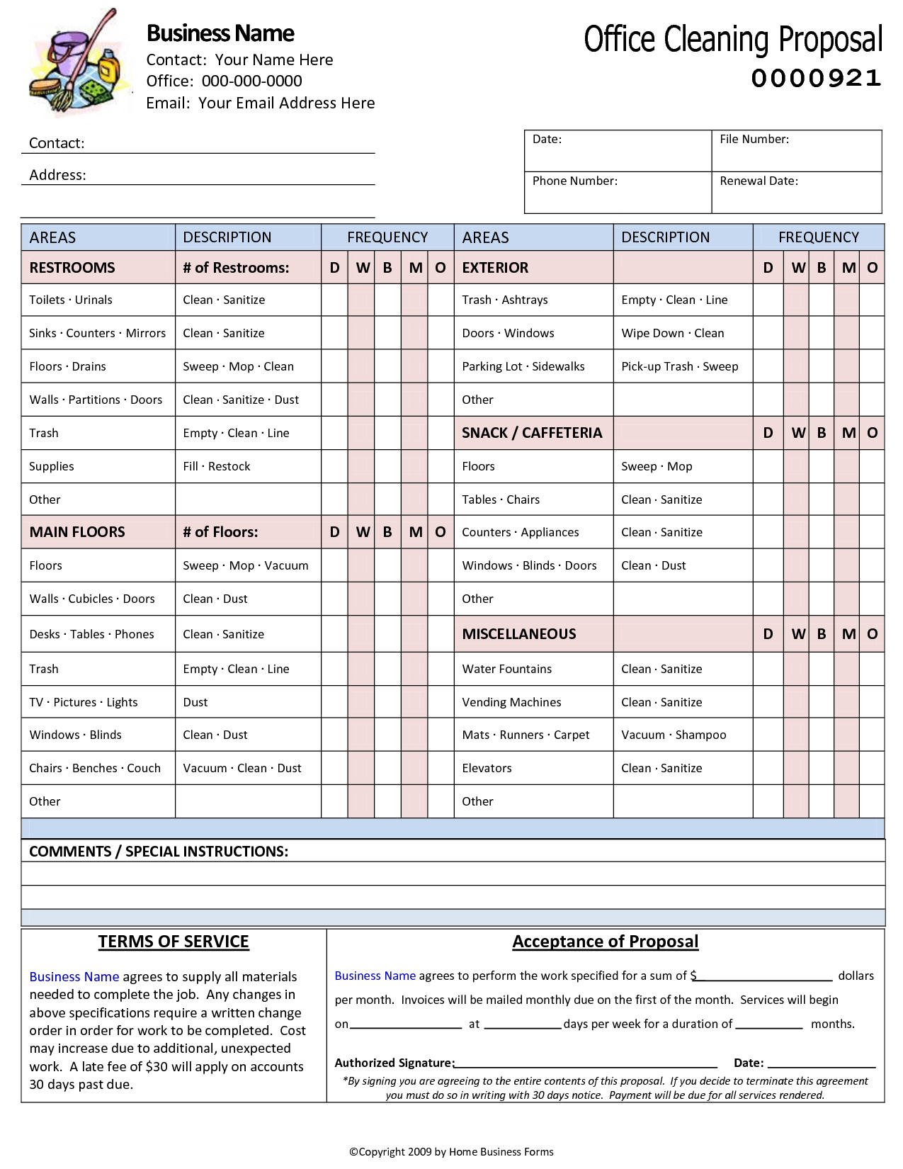 Masonry Estimate Template and Printable Blank Bid Proposal forms forms Sample Written