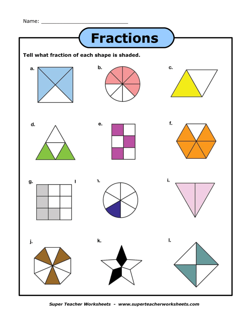 Math Fractions Worksheets 4th Grade and A Fraction Worksheet Super Teacher Worksheets Pinterest