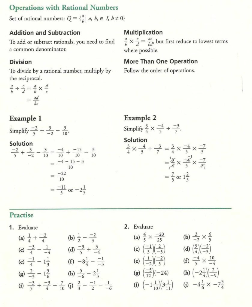 Math Practice for 6th Grade Worksheets and Grade 10 Academic Math Fractions Practice Mathematics Education