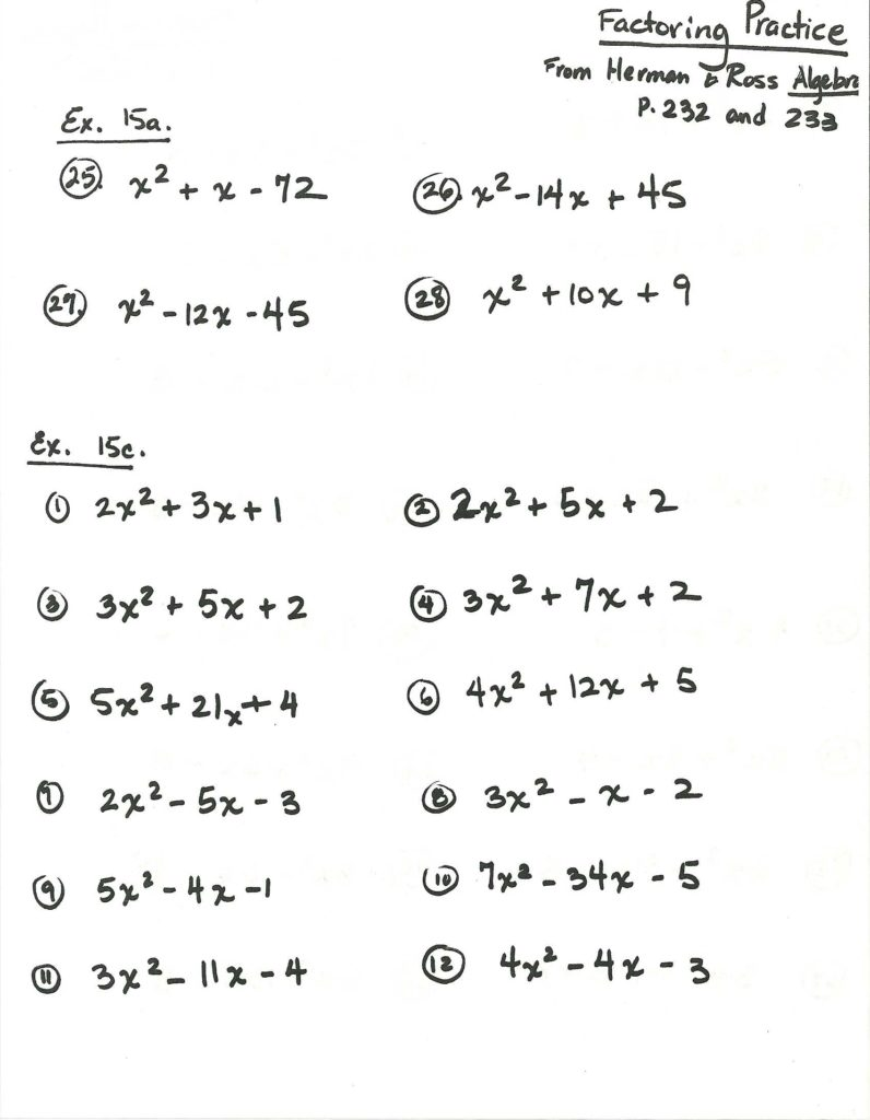Math Worksheets for 8th Grade Algebra 1 and Homework Tests 2013 14 Mrs Ribeiro S Math Classes