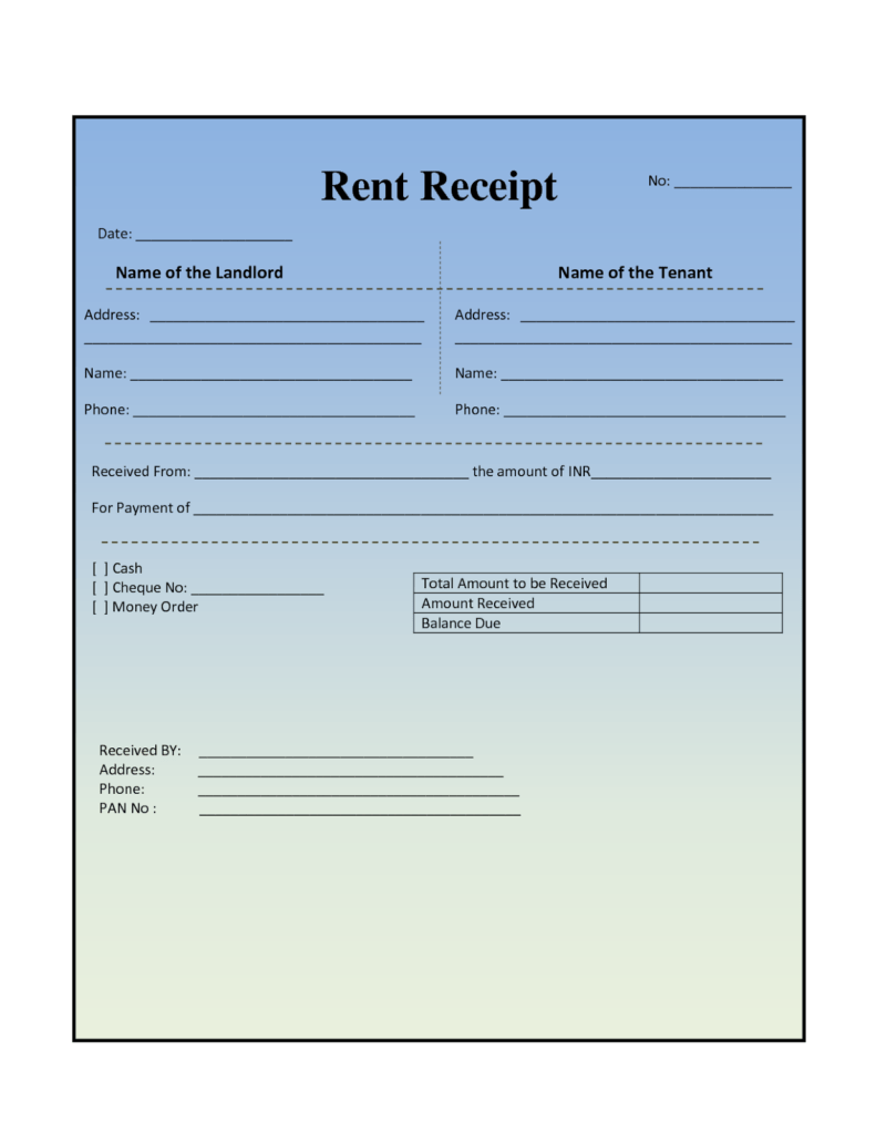 Medical Bill Template Pdf and House Rental Invoice Template In Excel format House Rental