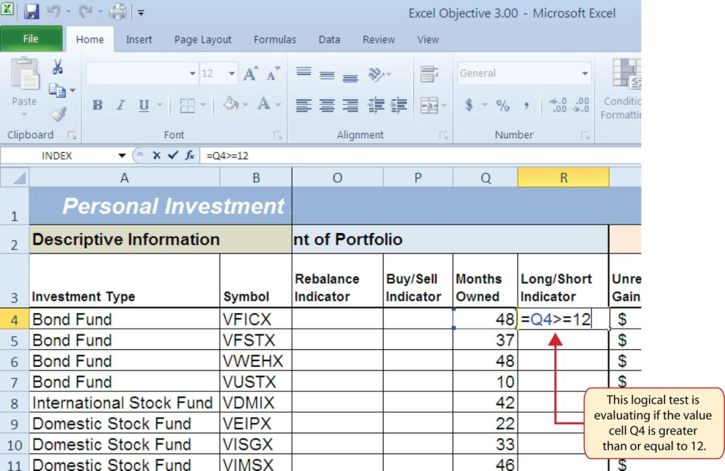 Microsoft Excel Sample Spreadsheets and Logical Functions