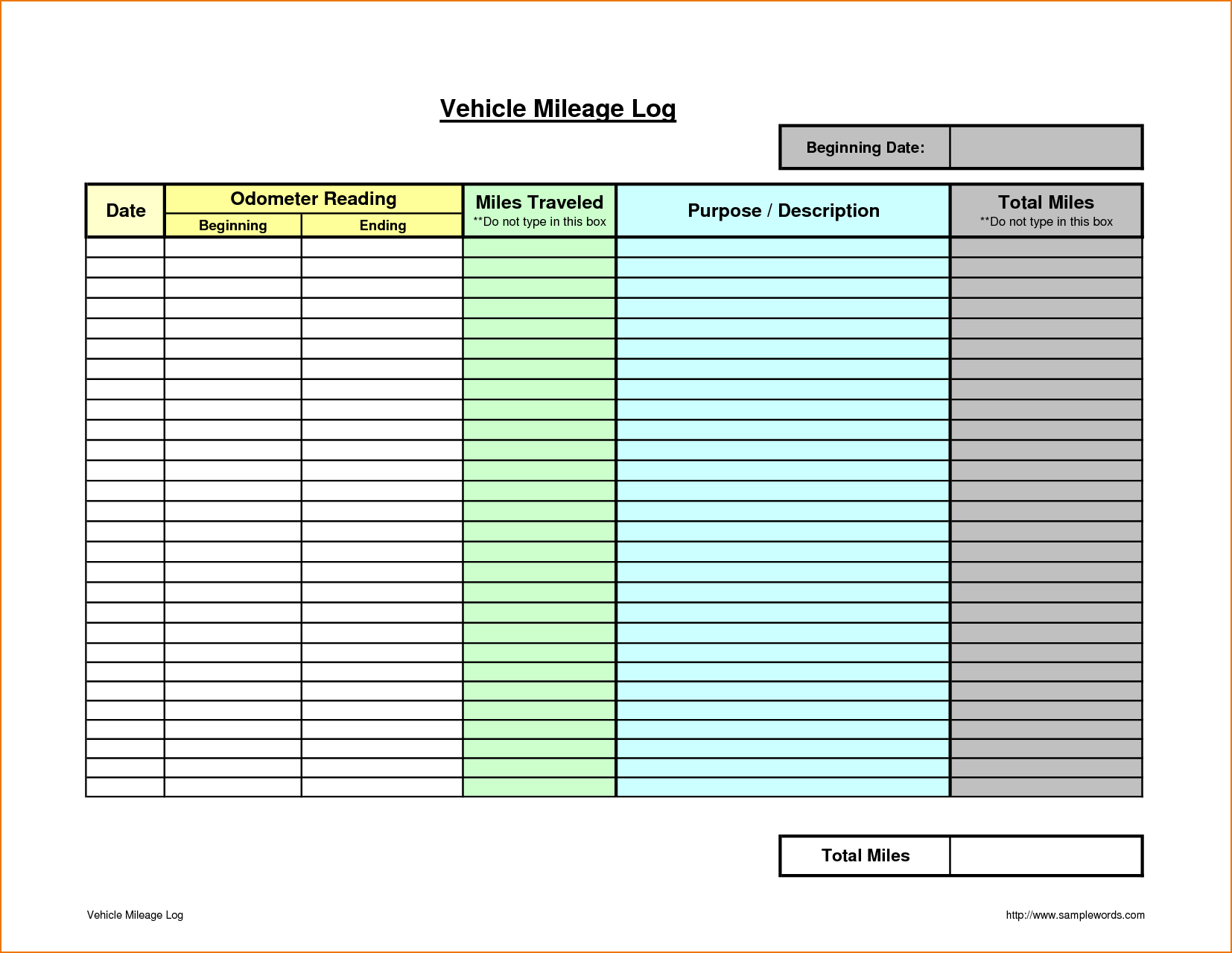 Mileage Spreadsheet Free and Business Mileage Spreadsheet Wolfskinmall