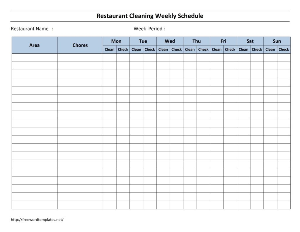 Monthly Employee Work Schedule Template Excel and Free Cleaning Schedule forms Excel format and Payroll areas for