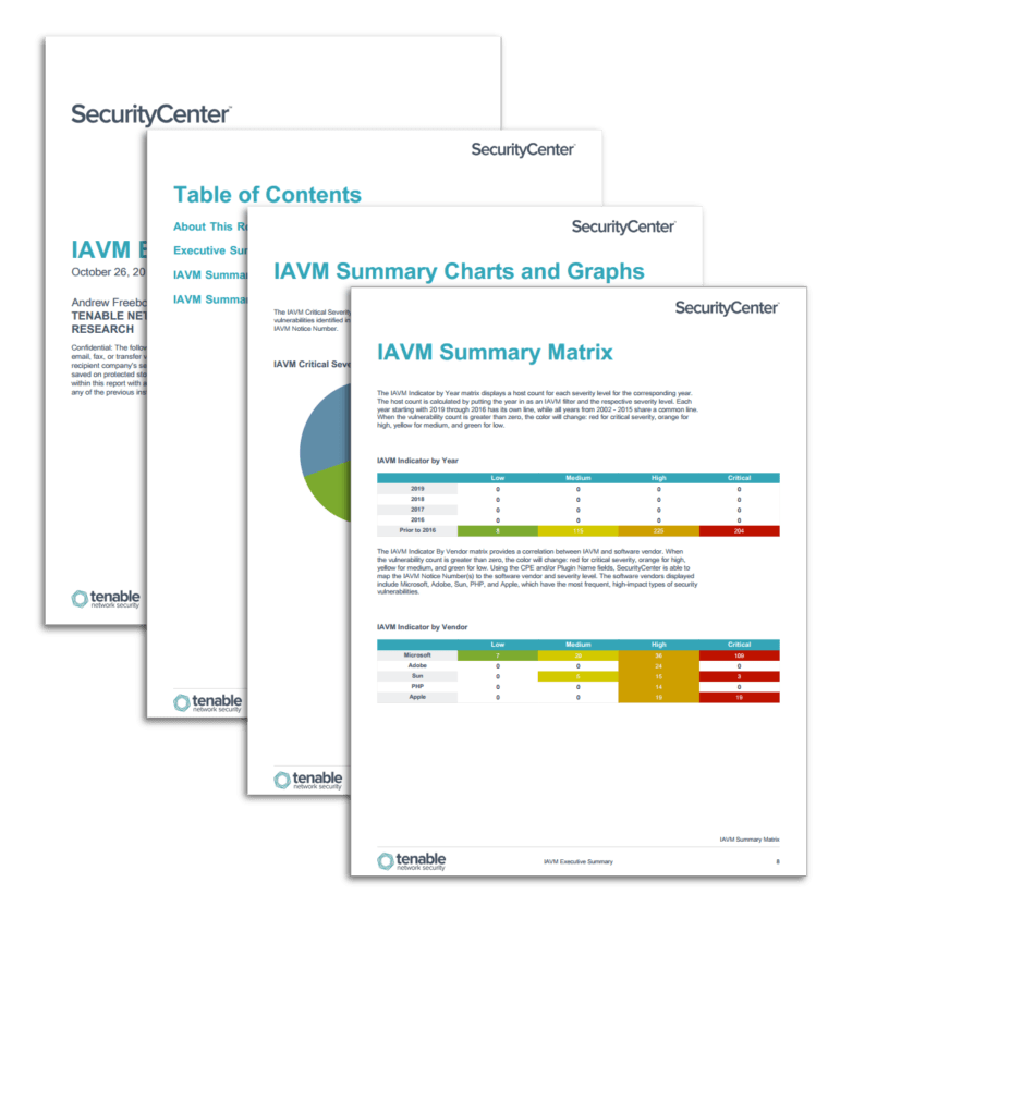Network Vulnerability assessment Report Sample and Iavm Executive Summary Report Sc Report Template Tenableâ