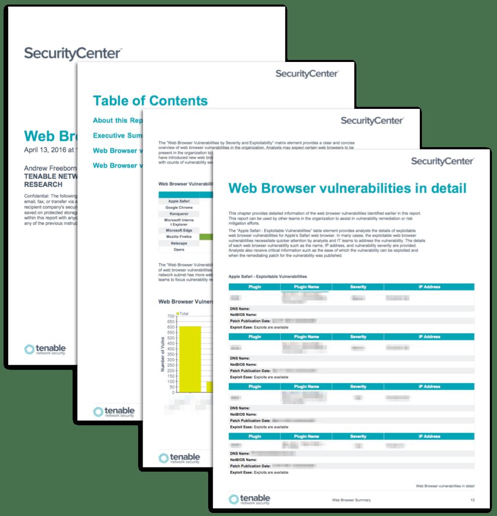 Network Vulnerability assessment Report Sample and Web Browser Vulnerability Report Sc Report Template Tenableâ