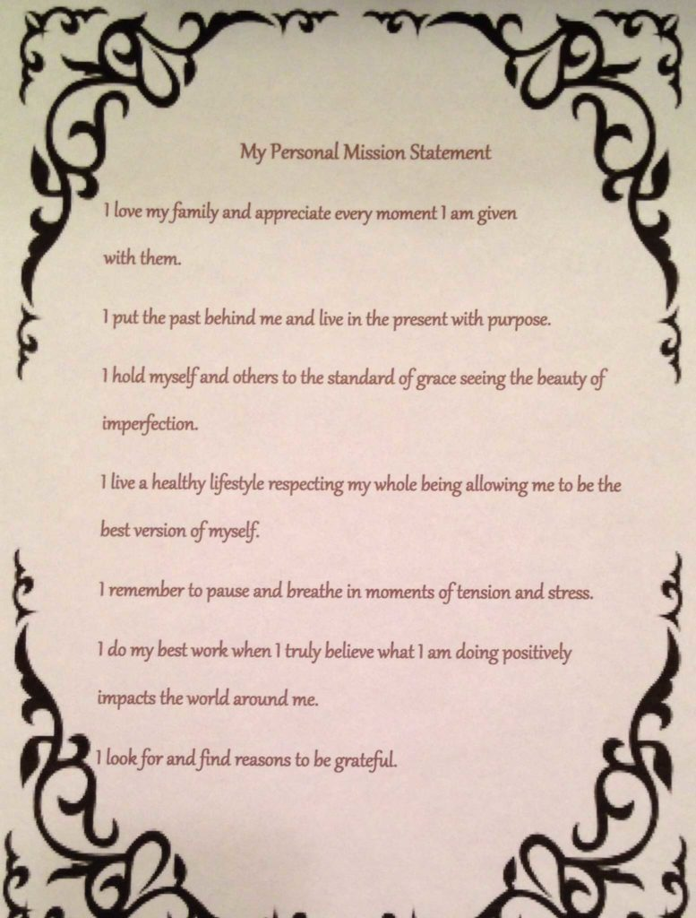 Outreach Mission Statement Examples and My Personal Mission Statement I Will Do My Best to Live Every Day