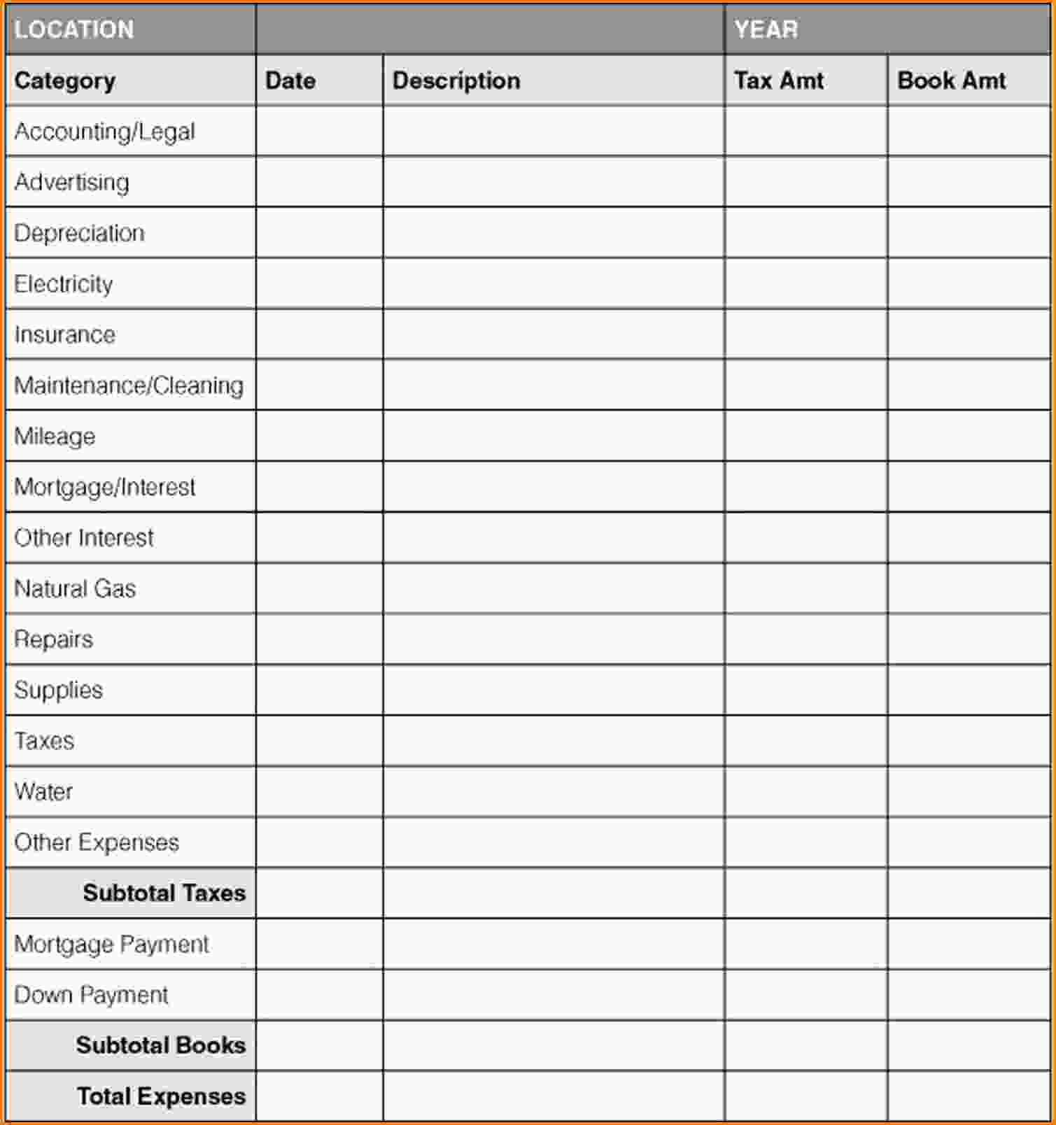 Personal Bills Spreadsheet Template and Excel Spreadsheet Template for Personal Expenses Wolfskinmall