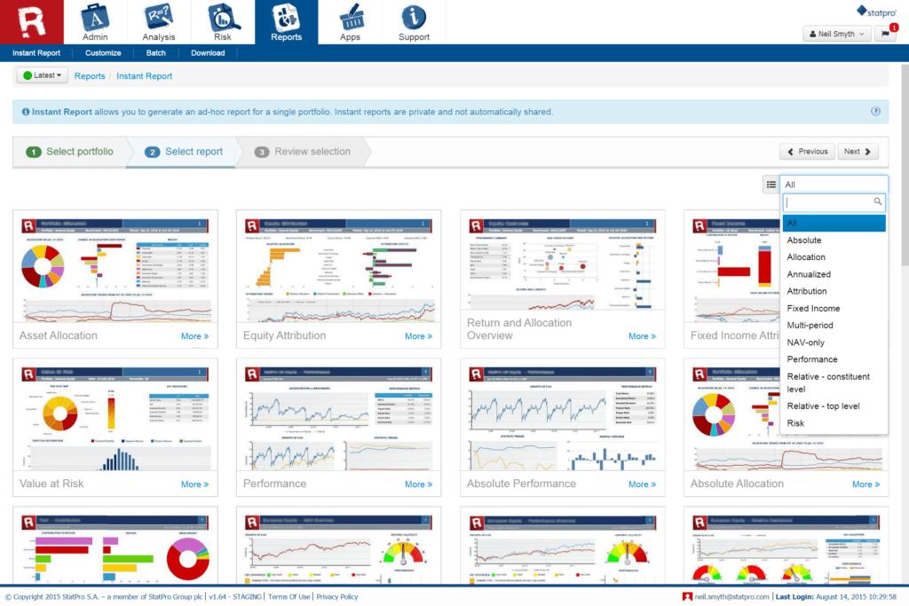Portfolio Management Reporting Templates and Portfolio Analysis Reporting Statpro Revolution Statpro