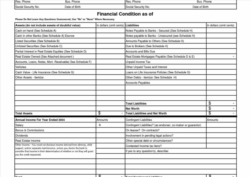 Profit and Loss Statement Template for Self Employed and Statement Template and Loss Statement Templates U forms for Self