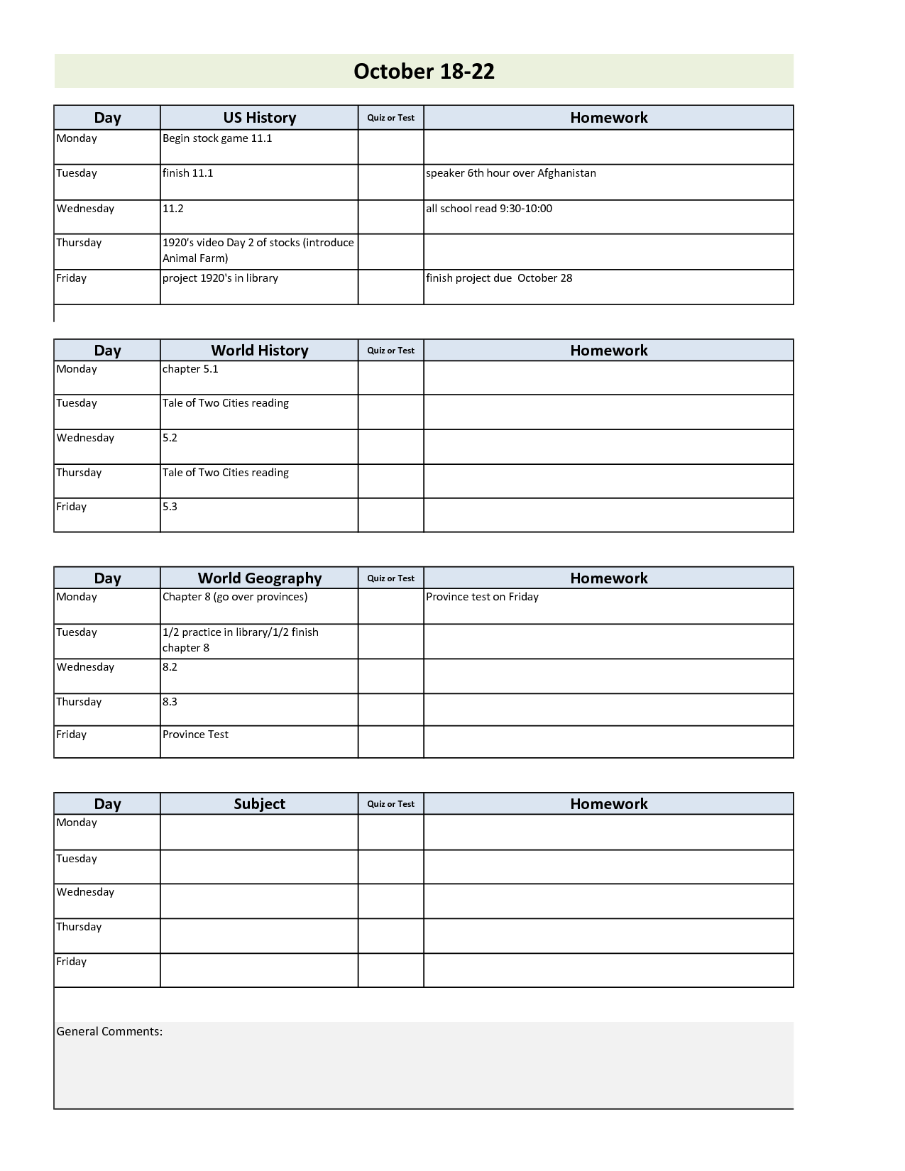 Project Plan Spreadsheet and Daily Project organizer Templates Free Weekly Student Planner