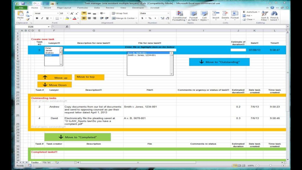 Project Tracking Excel Spreadsheet and Excel Spreadsheet for Tracking Tasks Shared Workbook Youtube