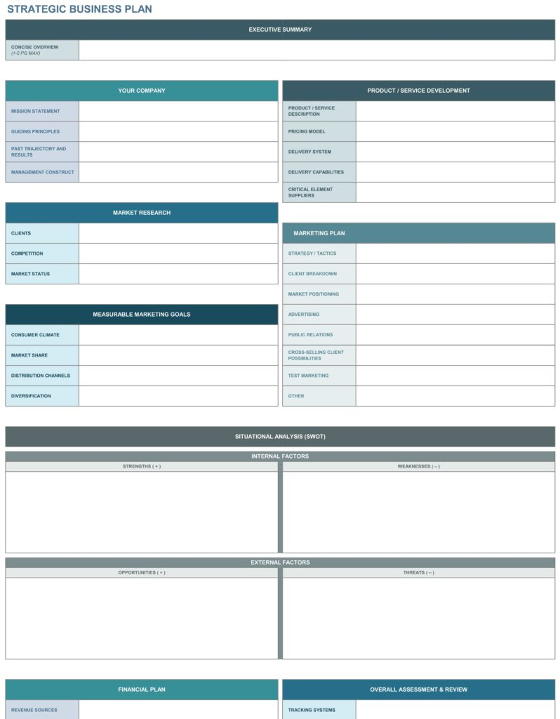 Project Tracking Template for Excel and 9 Free Strategic Planning Templates Smartsheet